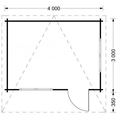Bild 5 von Graed Dreux TP Blokhut 400x300 cm, 44 mm