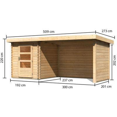 Afbeelding 2 van Woodfeeling Bastrup 1 met veranda 300 cm (91529)