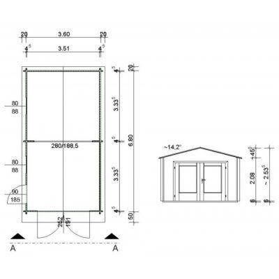 Afbeelding 63 van Azalp Garage Thijs 380x700 cm, 45 mm