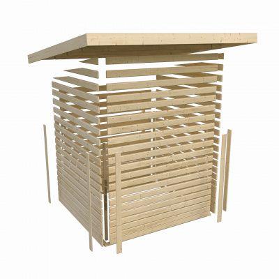Afbeelding 4 van Woodfeeling Kerko 3 met veranda 280 cm (82938)