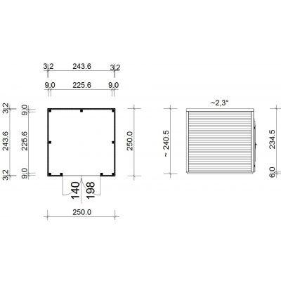 Bild 2 von SmartShed Gartenhaus Ligne 250x250 cm