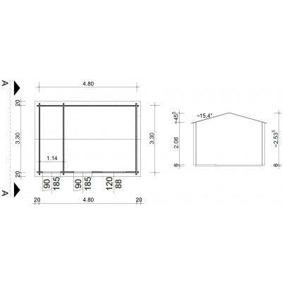 Bild 9 von Azalp Blockhaus Karlijn 500x350 cm, 45 mm