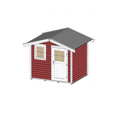 Bild 3 von Weka Gartenhaus 123 Gr. 1 Schwedisch rot