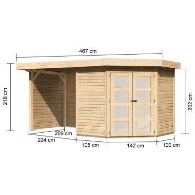 Afbeelding 2 van Woodfeeling Namen 3 met veranda 240 cm