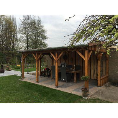 Afbeelding 4 van Azalp Houten veranda 400x400 cm