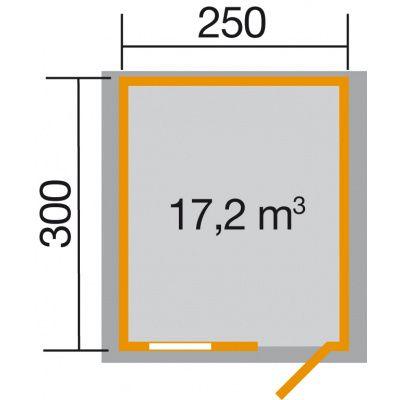 Afbeelding 2 van Weka Tuinhuis Premium28 FT Gr. 3 250cm