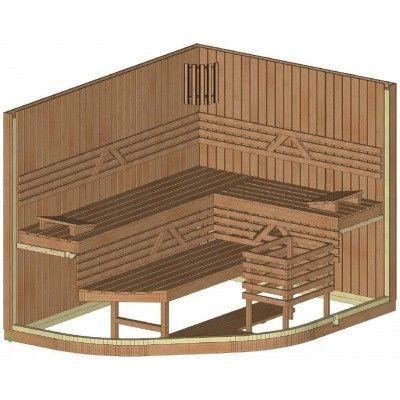 Afbeelding 12 van Azalp Sauna Runda 263x203 cm elzen
