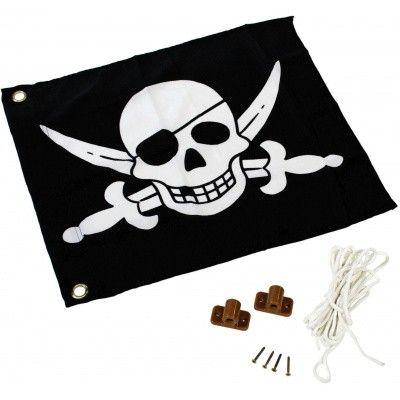 Hoofdafbeelding van Akubi Piraat vlag (82594)*