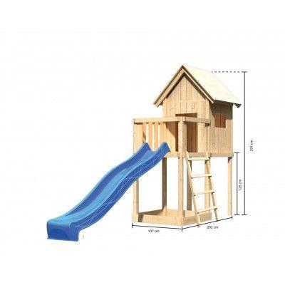 Afbeelding 2 van Akubi Speeltoren Frieda met glijbaan (91176)