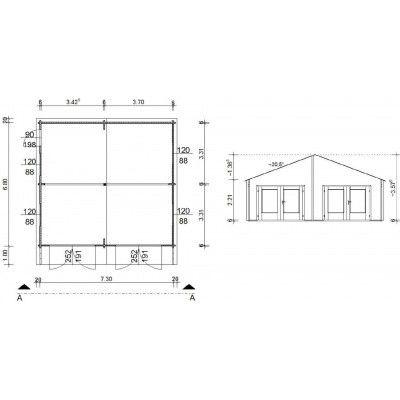 Afbeelding 18 van Azalp Garage Madrid 750x700 cm, 60 mm