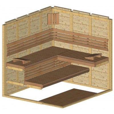 Afbeelding 35 van Azalp Sauna Luja 220x200 cm, 45 mm