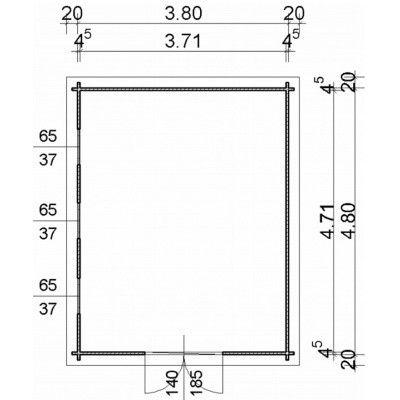 Bild 97 von Azalp Blockhaus Ingmar 400x500 cm, 45 mm