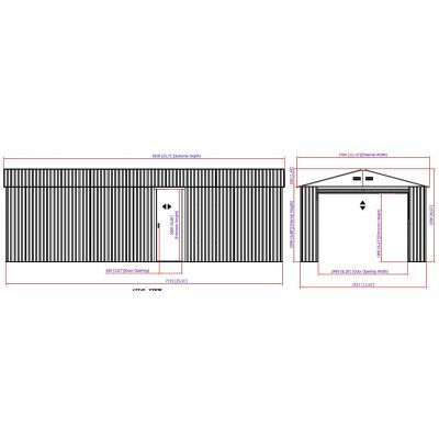 Bild 12 von Duramax Garage anthrazit 784x370 cm