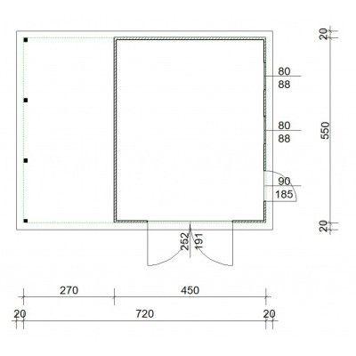 Afbeelding 4 van Azalp Garage Cidro 720x550 cm, 45 mm