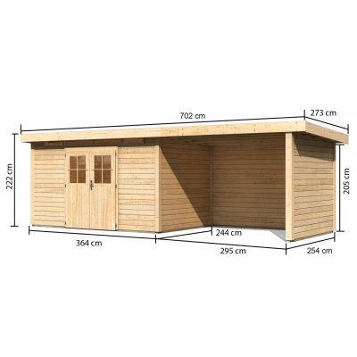 Afbeelding 2 van Woodfeeling Kortrijk 5 met veranda 300 cm
