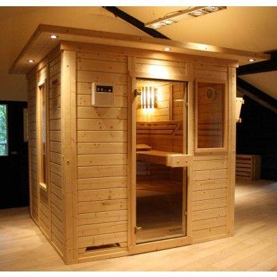 Afbeelding 2 van Azalp Saunaraam massieve sauna Genio 41x76 cm*