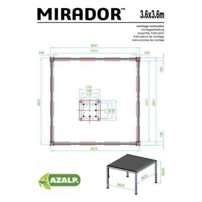 Afbeelding 7 van Sorara Mirador 3,6x3,6 wit