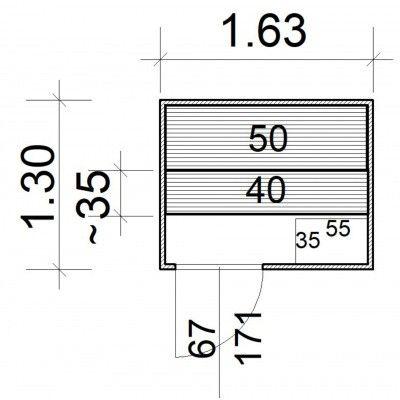 Afbeelding 5 van Azalp Massieve sauna Rio Standaard 163x130 cm, 39 mm