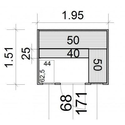 Afbeelding 3 van Azalp Massieve sauna Rio Optic 195x151 cm, 39 mm
