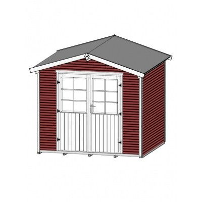 Bild 3 von Weka Gartenhaus 218 Gr. 3 Schwedisch rot