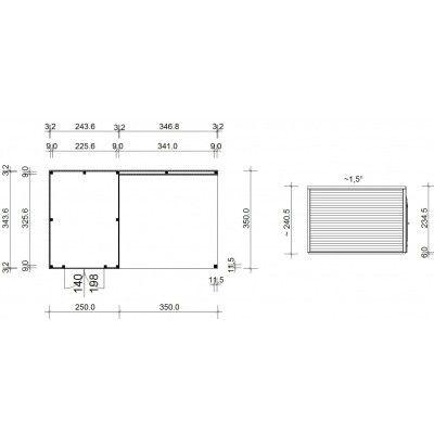 Afbeelding 18 van SmartShed Blokhut Ligne Ultra 600x350 cm