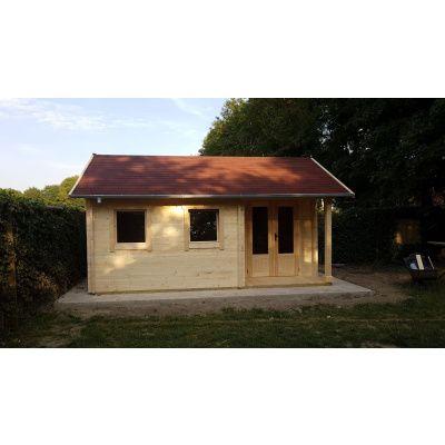 Bild 62 von Azalp Blockhaus Kinross 500x350 cm, 45 mm