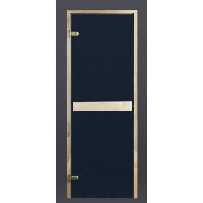 Hoofdafbeelding van Ilogreen Saunadeur Classic (Elzen) 69x199 cm, blauwglas