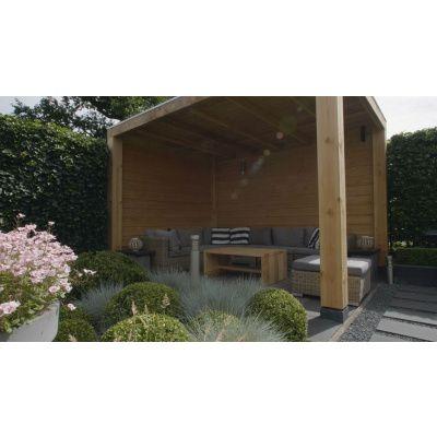 Afbeelding 3 van WoodAcademy Moonstone Excellent Douglas Overkapping 400x400 cm