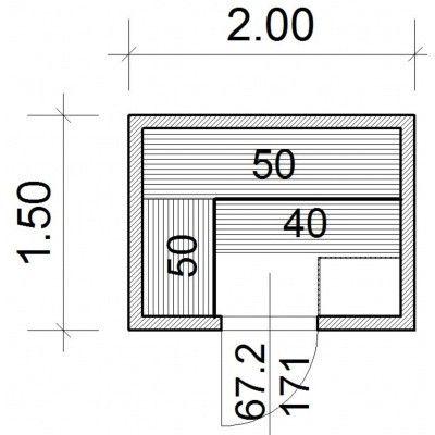 Afbeelding 43 van Azalp Massieve sauna Genio 200x150 cm, 60 mm
