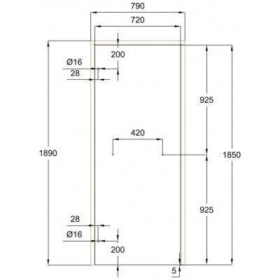Afbeelding 10 van Ilogreen Saunadeur Classic (Elzen) 79x189 cm, helderglas