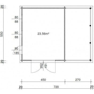 Afbeelding 12 van Azalp Garage Lagra 740x570 cm, 95 mm