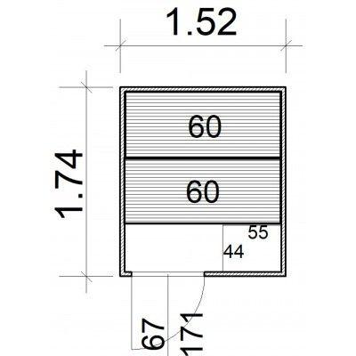 Afbeelding 5 van Azalp Massieve sauna Rio Standaard 152x174 cm, 39 mm