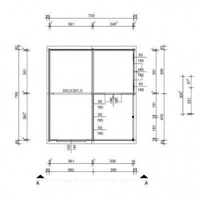 Afbeelding 21 van Azalp Garage Miami 750x800 cm, 95 mm kanteldeur