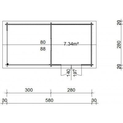 Bild 38 von Azalp Blockhaus Marnix 600x300 cm, 30 mm