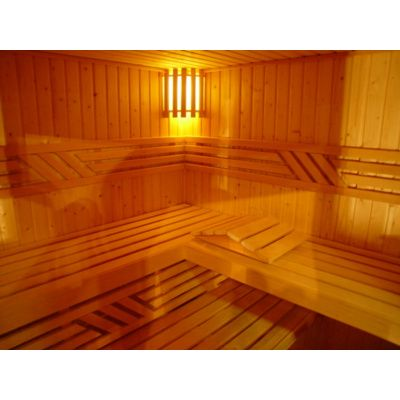 Afbeelding 60 van Azalp Elementhoeksauna 186x135 cm, elzen