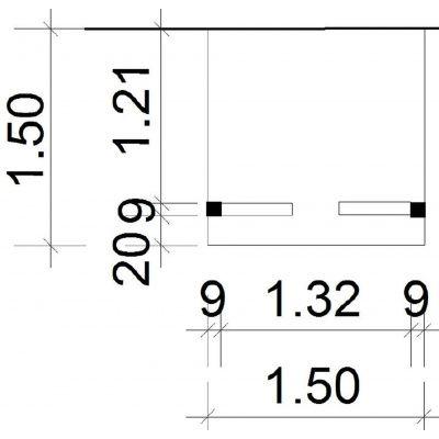 Afbeelding 2 van Azalp Deluxe zijdak 150x150 cm (O)