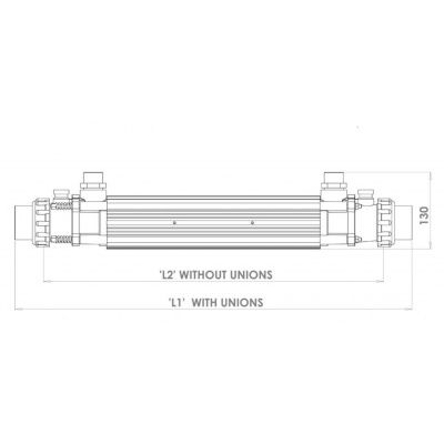 Afbeelding 9 van Elecro Engineering G2, 49 kW Titanium warmtewisselaar