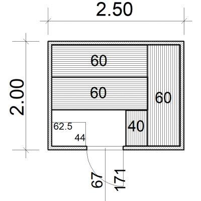 Afbeelding 2 van Azalp Massieve sauna Eva 250x200 cm, 45 mm