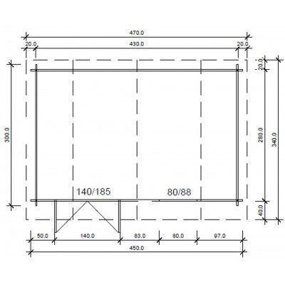 Bild 25 von Azalp Blockhaus Cornwall 450x300 cm, 30 mm