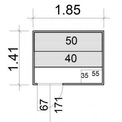 Afbeelding 5 van Azalp Massieve sauna Rio Standaard 185x141 cm, 39 mm