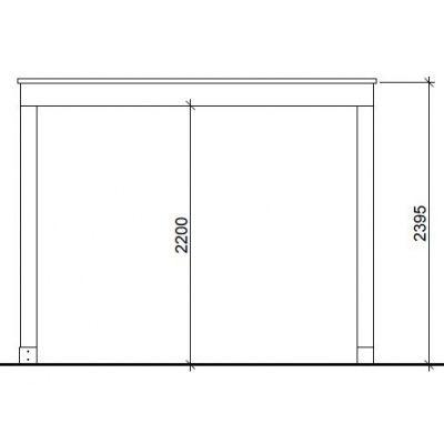 Afbeelding 2 van House of Lork Madrid Siberisch Lariks Overkapping 450x350 cm
