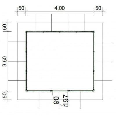 Afbeelding 4 van SmartShed Blokhut Amando 400x350 cm, 45 mm