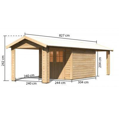 Bild 2 von Woodfeeling Blankenberge 4 mit 2 Anbaudächer