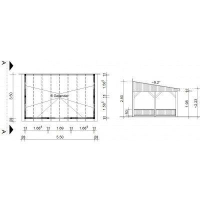 Bild 34 von Azalp Terrassenüberdachung Holz 550x350 cm