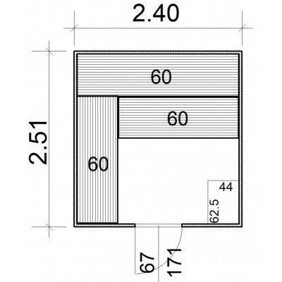 Afbeelding 5 van Azalp Massieve sauna Rio Standaard 240x251 cm, 39 mm