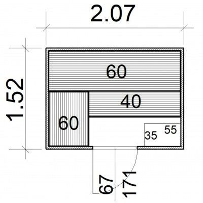 Afbeelding 5 van Azalp Massieve sauna Rio Standaard 207x152 cm, 39 mm