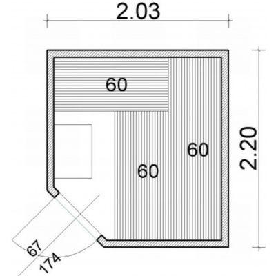 Afbeelding 52 van Azalp Elementhoeksauna 203x220 cm, elzen