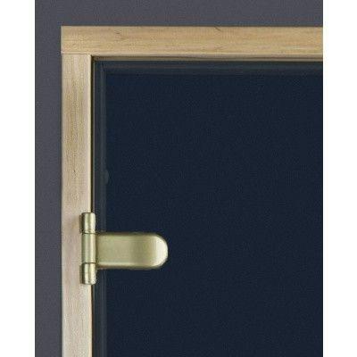 Afbeelding 5 van Ilogreen Saunadeur Trend (Elzen) 189x89 cm, blauwglas