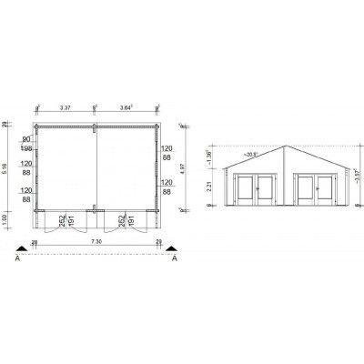 Afbeelding 18 van Azalp Garage Madrid 750x600 cm, 95 mm