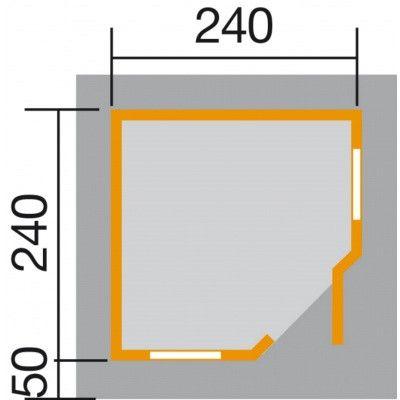 Afbeelding 2 van Weka Designhuis 213 Gr.1, 238x238 cm Zweeds rood